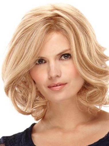 """Lace Front 12"""" Mukava Vaalea Remy-Hiusta Puolipitkät Peruukki"""
