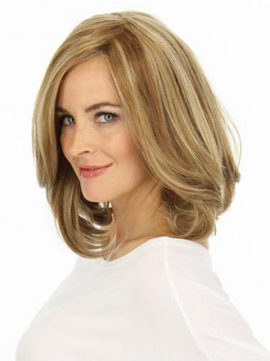 """Lace Front 12"""" Moderni Vaalea Remy-Hiusta Puolipitkät Peruukki"""