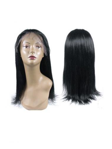 """14"""" Hämmästyttävä Musta Remy-Hiusta Pitkät Suora Full Lace Peruukit"""