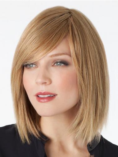 """11"""" Täydellinen Remy-Hiusta Suora Lace Front Polkka Vaalea Peruukki"""