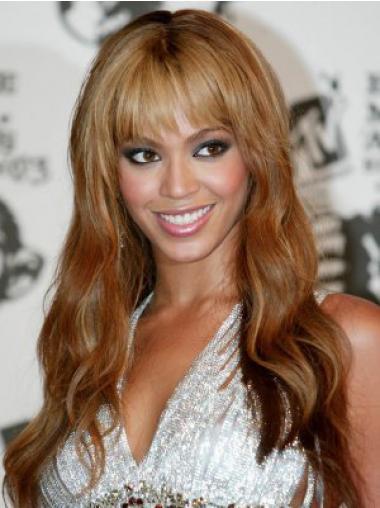 """Full Lace Erinomainen 20"""" Laineikas Otsatukka Brasilian Remy-Hiusta Beyonce Peruukit"""