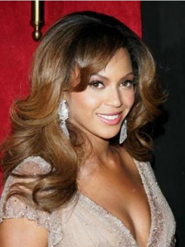 "Full Lace Vaivattoman 17"" Laineikas Kerrostettu Brasilian Remy-Hiusta Beyonce Peruukit"