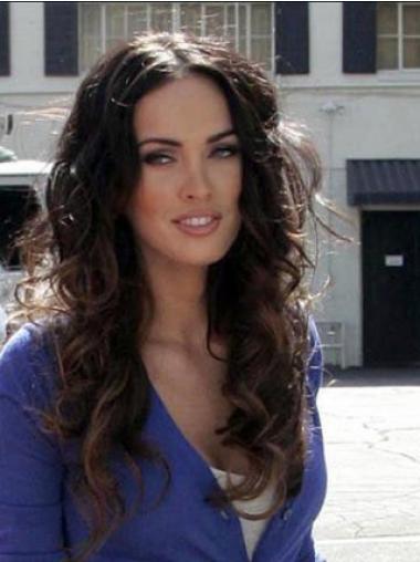 """Laineikas 23"""" Kullanruskea 100% Käsinsolmittuja Ihanteellinen Megan Fox Peruukit"""