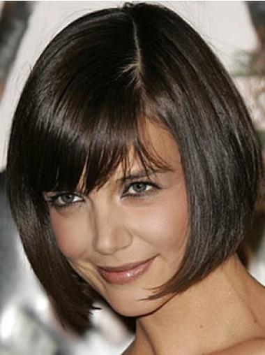 "Suora 10"" Leukapituinen Polkka Monofilament Kaunis Katie Holmes Peruukit"
