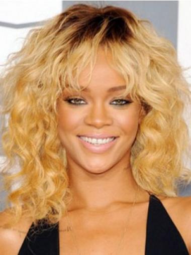 """14"""" Vaalea Synteettistä Kiharat Konetyötä Sopiva Rihanna Peruukit"""