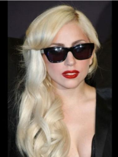"Edullinen Vaalea Laineikas 16"" Pitkät Lady Gaga Peruukit"