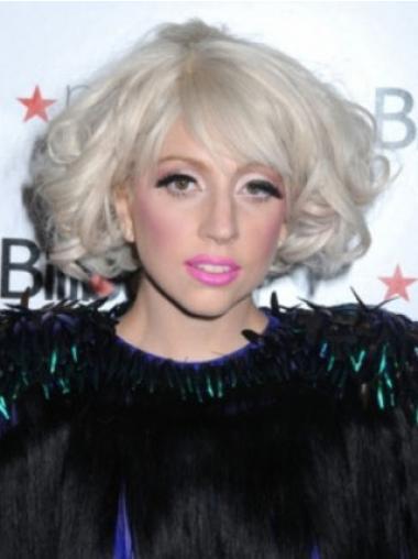 """Hämmästyttävä Kiharat 10"""" Leukapituinen Lady Gaga Peruukit"""