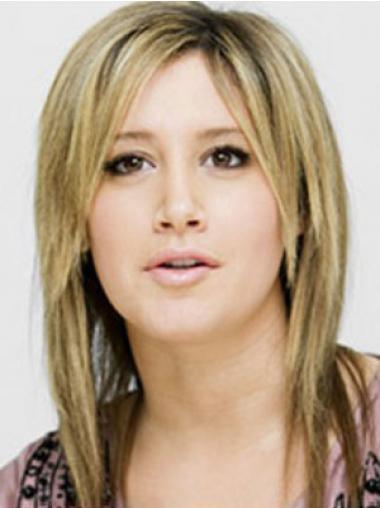 """14"""" Sopiva Synteettistä Konetyötä Olkapäille Ylettyvät Ashley Tisdale Peruukit"""