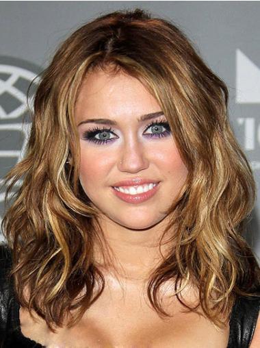Ruskea Synteettistä Laineikas Suosittu Miley Cyrus Peruukit