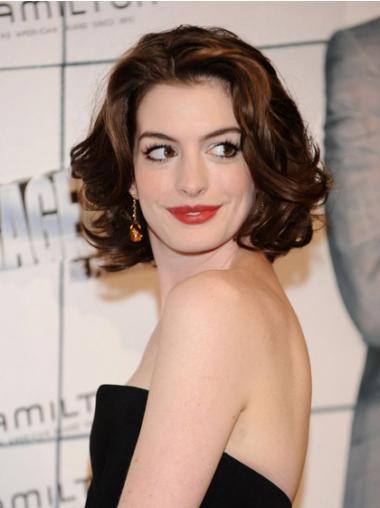 """10"""" Muodikas Synteettistä Konetyötä Leukapituinen Anne Hathaway Peruukit"""