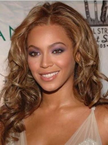 """Ihanteellinen 16"""" Kullanruskea Ilman Otsatukkaa Lace Front Laineikas Beyonce Peruukit"""