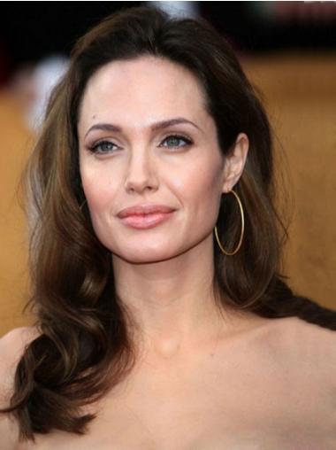 """16"""" Ylin Remy-Hiusta 100% Käsinsolmittuja Pitkät Angelina Jolie Peruukit"""