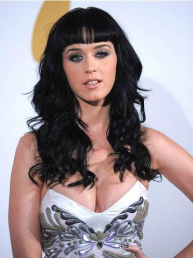 """Synteettistä 16"""" Pitkät Laineikas Konetyötä Suunniteltu Katy Perry Peruukit"""