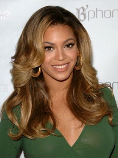 """Upea 18"""" Ruskea Ilman Otsatukkaa Lace Front Laineikas Beyonce Peruukit"""
