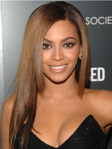 """Halvin 18"""" Ruskea Ilman Otsatukkaa Lace Front Yaki Beyonce Peruukit"""