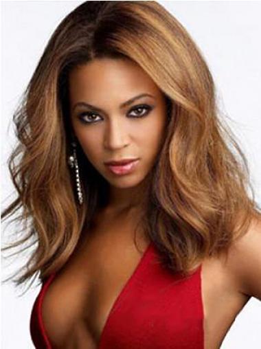 """Alennus 15"""" Kullanruskea Ilman Otsatukkaa Lace Front Laineikas Beyonce Peruukit"""