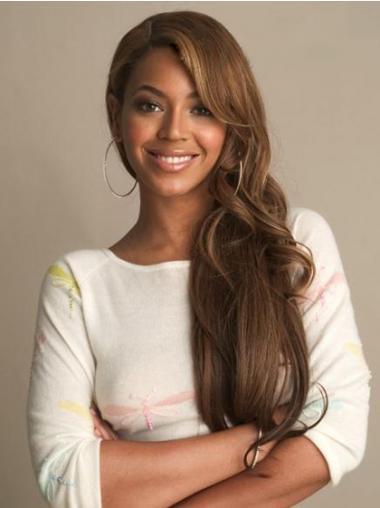 """Lace Front Muoti 24"""" Laineikas Otsatukka Brasilian Remy-Hiusta Beyonce Peruukit"""