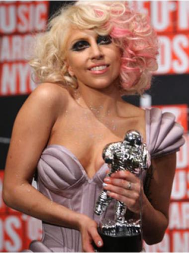 """Kaunis Vaalea Laineikas 12"""" Olkapäille Ylettyvät Lady Gaga Peruukit"""