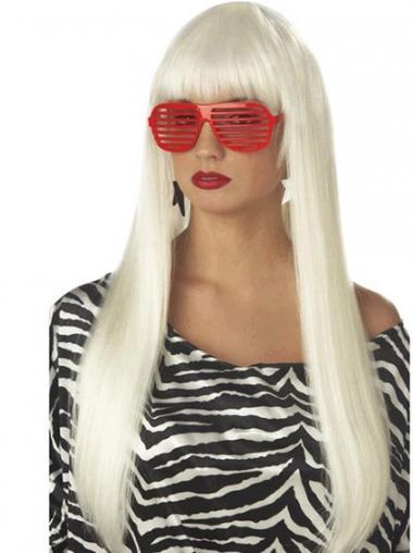 """Joustavuus Suora 24"""" Pitkät Lady Gaga Peruukit"""