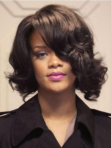 "12"" Ruskea Intian Remy-Hiusta Laineikas Lace Front Kampaukset Rihanna Peruukit"