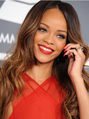 """24"""" Ruskea Synteettistä Laineikas Konetyötä Muodikas Rihanna Peruukit"""