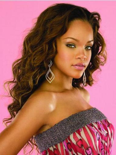 """22"""" Ruskea Synteettistä Laineikas Konetyötä Kestävä Rihanna Peruukit"""
