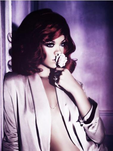 """14"""" Punainen Remy-Hiusta Laineikas Lace Front Vaivattoman Rihanna Peruukit"""