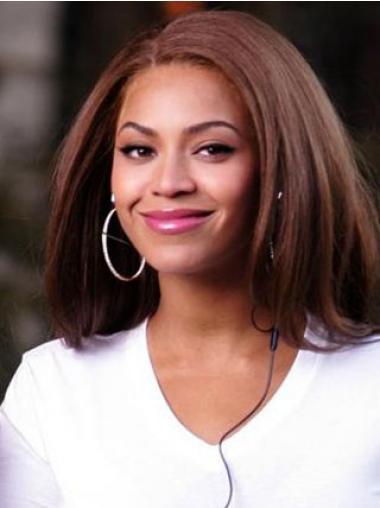 """Nenäkäs 14"""" Kullanruskea Ilman Otsatukkaa Lace Front Suora Beyonce Peruukit"""