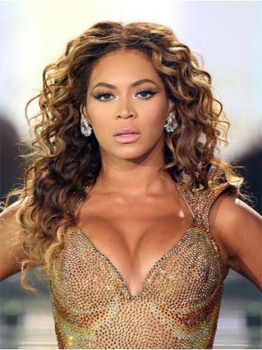 """Halpa 20"""" Ruskea Ilman Otsatukkaa Lace Front Kiharat Beyonce Peruukit"""