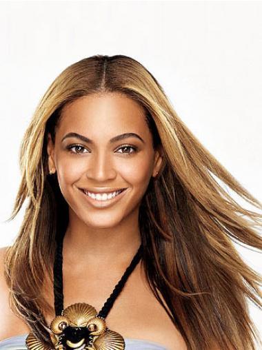 """Joustavuus 24"""" Ruskea Ilman Otsatukkaa Full Lace Suora Beyonce Peruukit"""