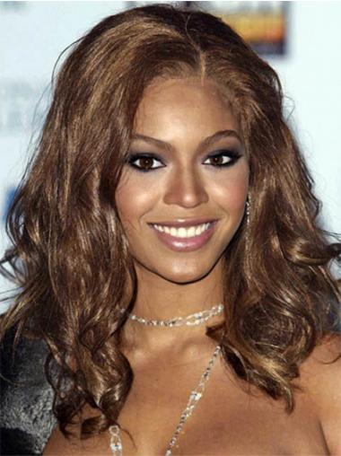 """Satumainen 16"""" Ruskea Ilman Otsatukkaa Lace Front Laineikas Beyonce Peruukit"""