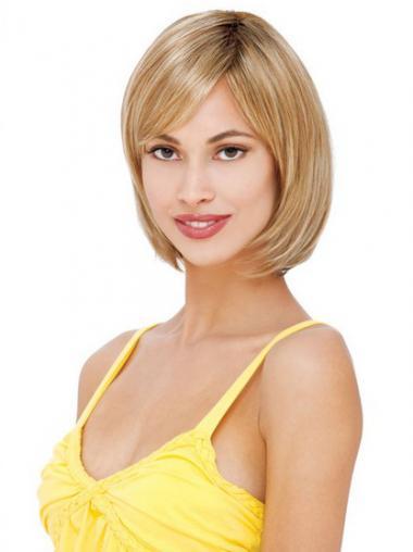 """Tyyli 8"""" Remy-Hiusta Suora Lace Front Polkka Peruukki"""