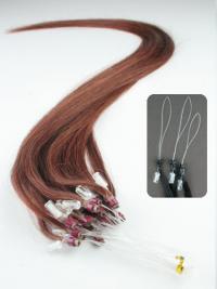 Kullanruskea Suora Uusi Remy-Hiusta Micro Loop Hiustenpidennykset