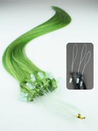 Musta Suora Vaivattoman Remy-Hiusta Micro Loop Hiustenpidennykset