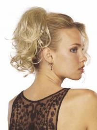 Muoti Vaalea Synteettistä Laineikas Clip On Hiuslisäkkeet