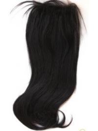 Musta Remy-Hiusta Suora Pitkät Sulavalinjainen Lace Closures