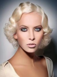 """Lace Front Täydellinen 10"""" Remy-Hiusta Leukapituinen Kerrostettu Fashion Peruukit"""